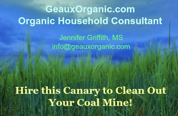 Organic Household Consultant, Geaux Organic, Hire me